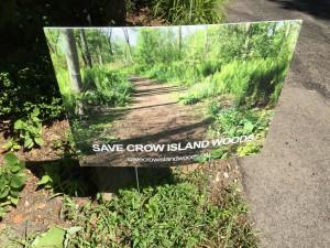 Crow Island Yard Sign